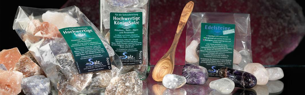 Gesundheitsprodukte von KönigsSalz für gesundheitsbewusste Endkunden oder im Großhandel